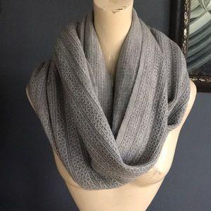 Calvin Klein gray knit infinitely scarf/wrap